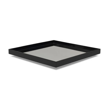 BLACK SQUARE TRAY WITH MIRROR - EXTRA LARGE, , hi-res