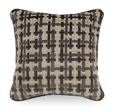 22 IN. SQUARE THROW PILLOW, BRUGES - CAFE, hi-res