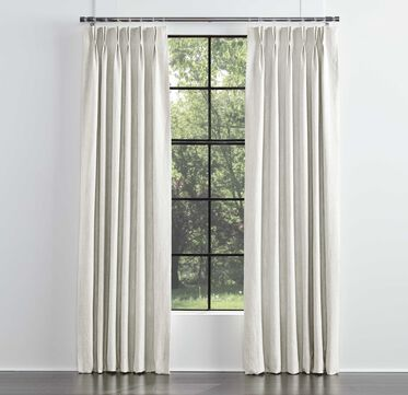 LEGACY SINGLE PANEL DOUBLE PLEAT DRAPE, LEGACY - PARCHMENT, hi-res