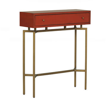 MING RED LACQUER CONSOLE TABLE, , hi-res