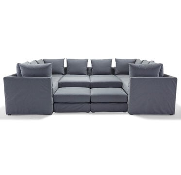 DR. PITT 7-PC SECTIONAL SOFA, CHAMBRAY - DENIM, hi-res