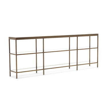 VIENNA LOW BOOKCASE LARGE - ANTIQUE BRASS, , hi-res