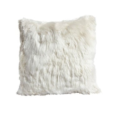 ALPACA 20 IN. SQUARE IVORY THROW PILLOW, , hi-res