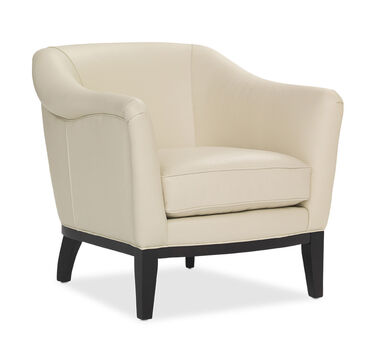 LARKIN LEATHER CHAIR, , hi-res