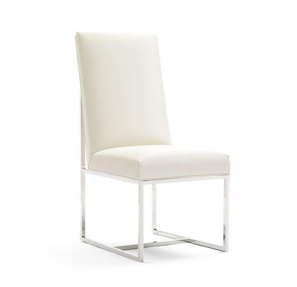 GAGE TALL SIDE DINING CHAIR, ALLOY - WHITE, hi-res