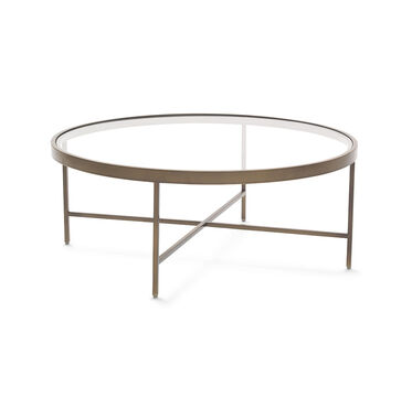 VIENNA ANTIQUE BRASS ROUND COCKTAIL TABLE, , hi-res