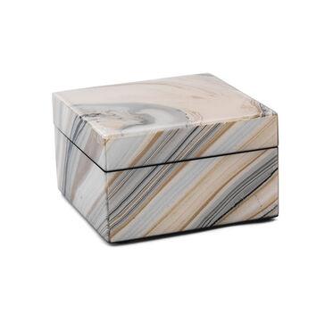 SILVER LACQUER BOX - SMALL, , hi-res