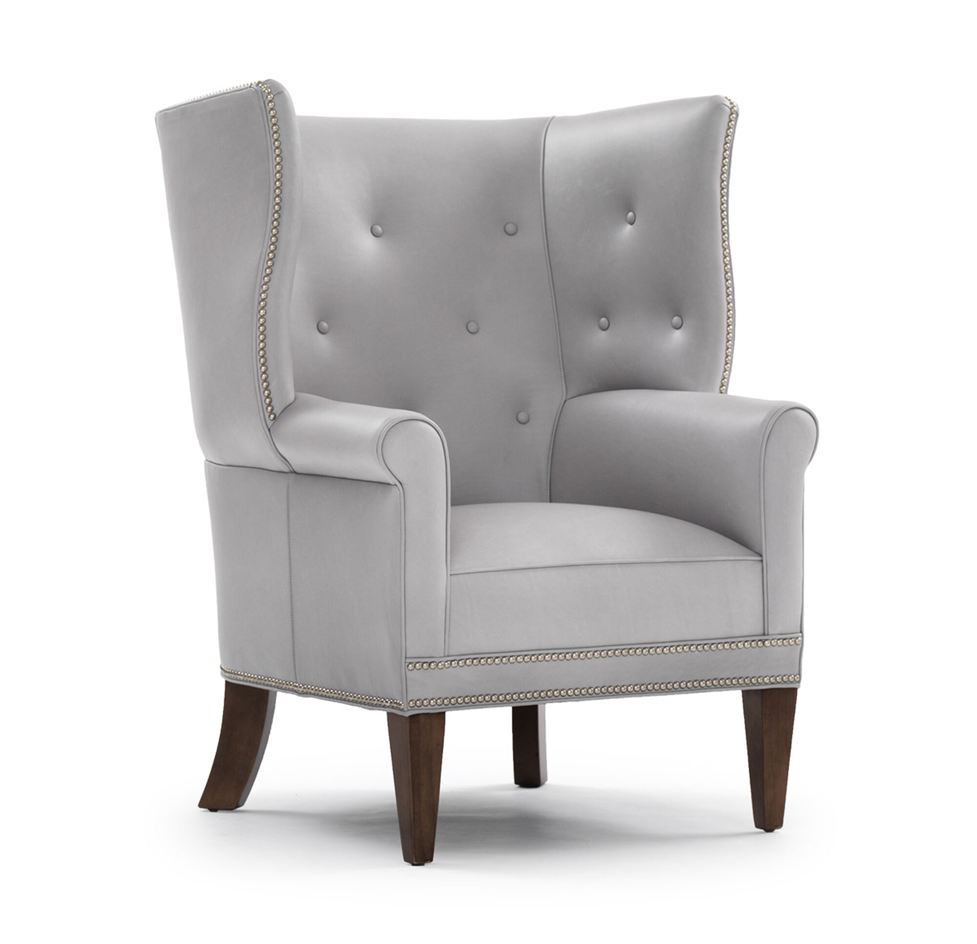 JAMES LEATHER WING CHAIR