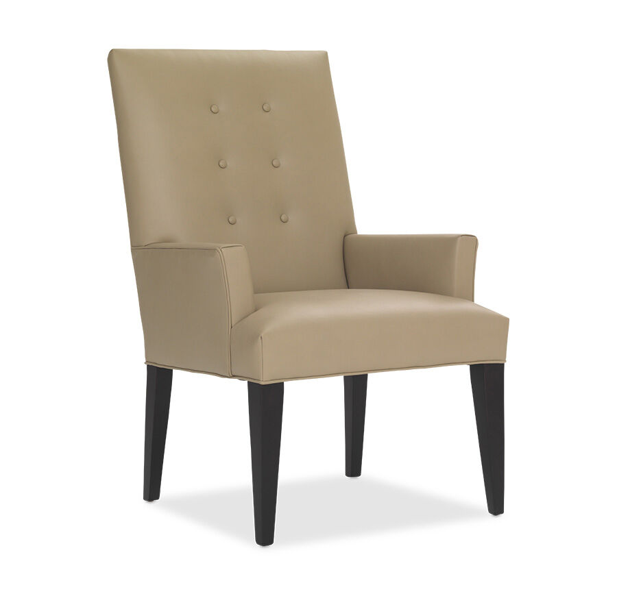 oliver leather tall arm dining chair hires - Leather Counter Stools