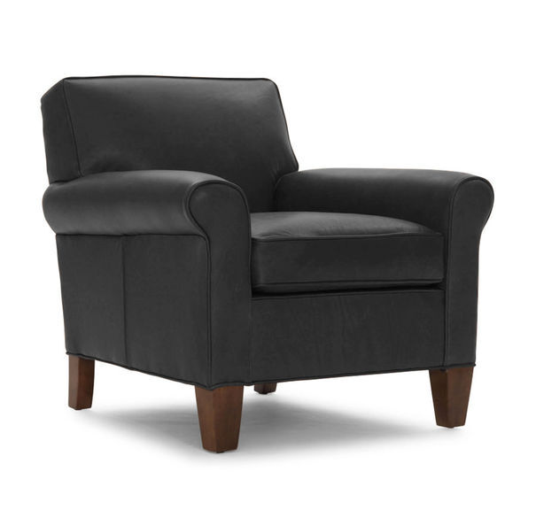 LOLA LEATHER CHAIR, ROYALE - ONYX, hi-res