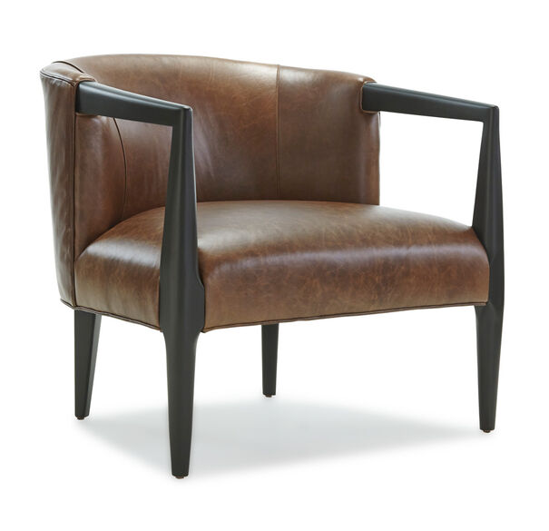 FLEMING LEATHER CHAIR, , hi-res