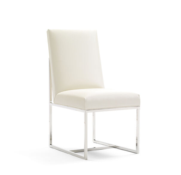 GAGE LOW DINING CHAIR, ALLOY - WHITE, hi-res