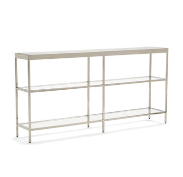 VIENNA LOW BOOKCASE MEDIUM - POLISHED STAINLESS STEEL, , hi-res
