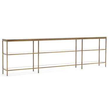 VIENNA LOW BOOKCASE EXTRA LARGE - ANTIQUE BRASS, , hi-res