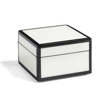 BLACK AND WHITE LACQUER BOX - SMALL, , hi-res