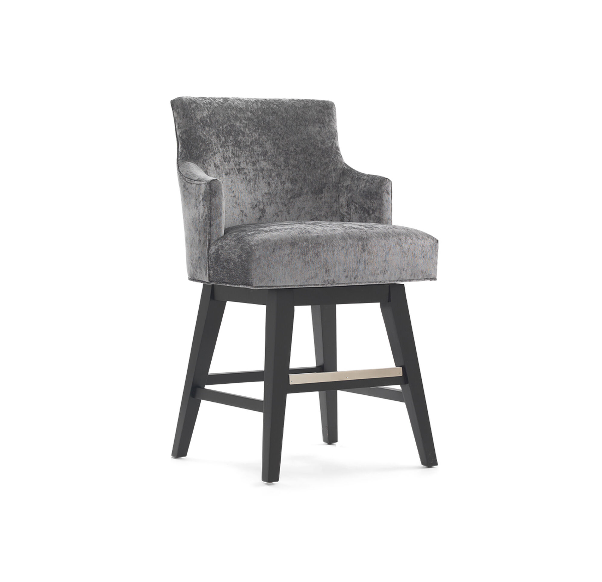Ada Return Swivel Counter Stool With Arms