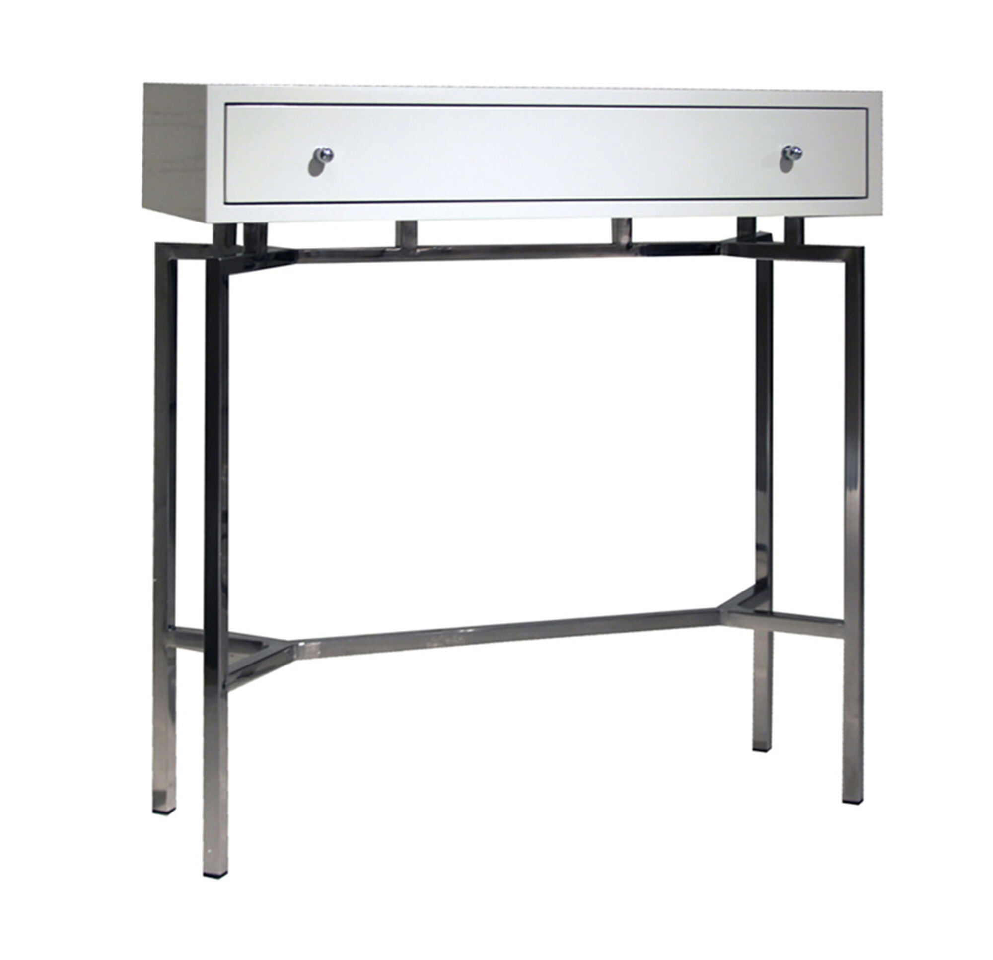 ming white lacquer console table -