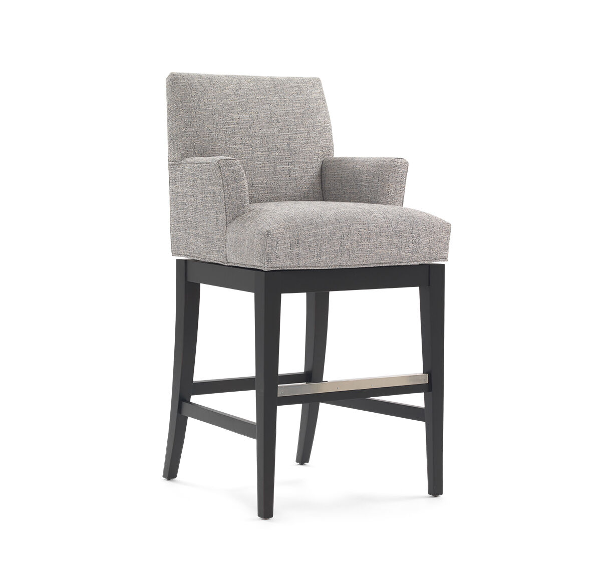 ANTHONY RETURN SWIVEL BAR STOOL   WITH ARMS, , Hi Res