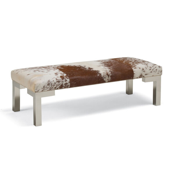 WINSTON LEATHER BENCH OTTOMAN, , hi-res