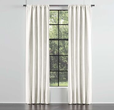 LEGACY SINGLE PANEL ROD POCKET DRAPE, LEGACY - PARCHMENT, hi-res