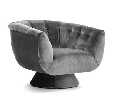 VIVIEN FULL SWIVEL CHAIR, LAUREL - GRAPHITE, hi-res