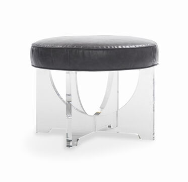 CLAUDIA LEATHER PULL-UP STOOL, , hi-res