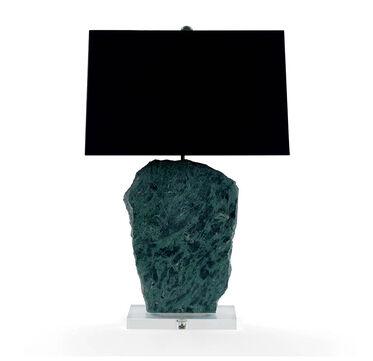 MORAN TEAL MARBLE TABLE LAMP, , hi-res