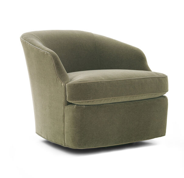 ARIES RETURN SWIVEL CHAIR, MOHAIR - SAGE, hi-res
