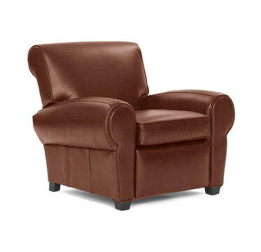 PHILIPPE LEATHER CHAIR, PENLAND - TOBACCO, hi-res