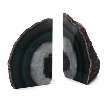 AGATE EMERALD LARGE BOOKENDS, , hi-res