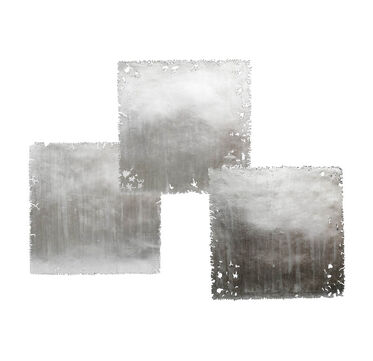 SILVER LEAF SQUARE WALL ART - SET OF 3, , hi-res
