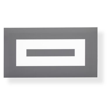 BLACK AND GRAY CONCENTRIC WALL ART, , hi-res