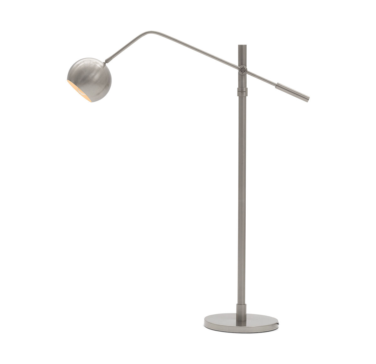 luna floor lamp nickel hires - Pole Lamps