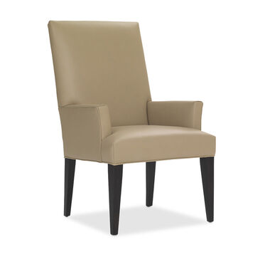 ANTHONY LEATHER TALL ARM DINING CHAIR, , hi-res