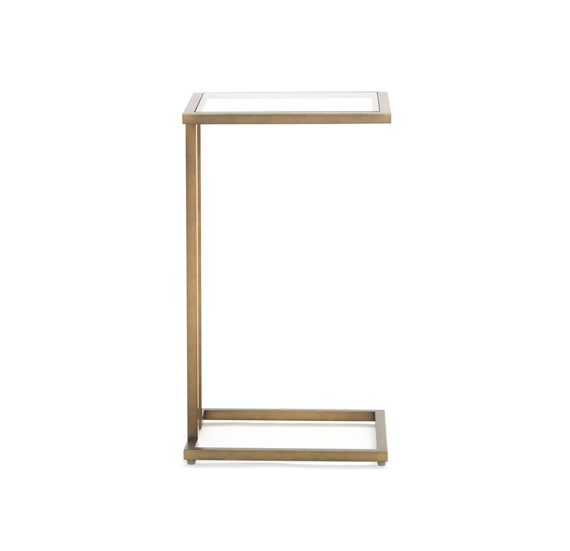 Vienna Pull Up Side Table Antique Brass