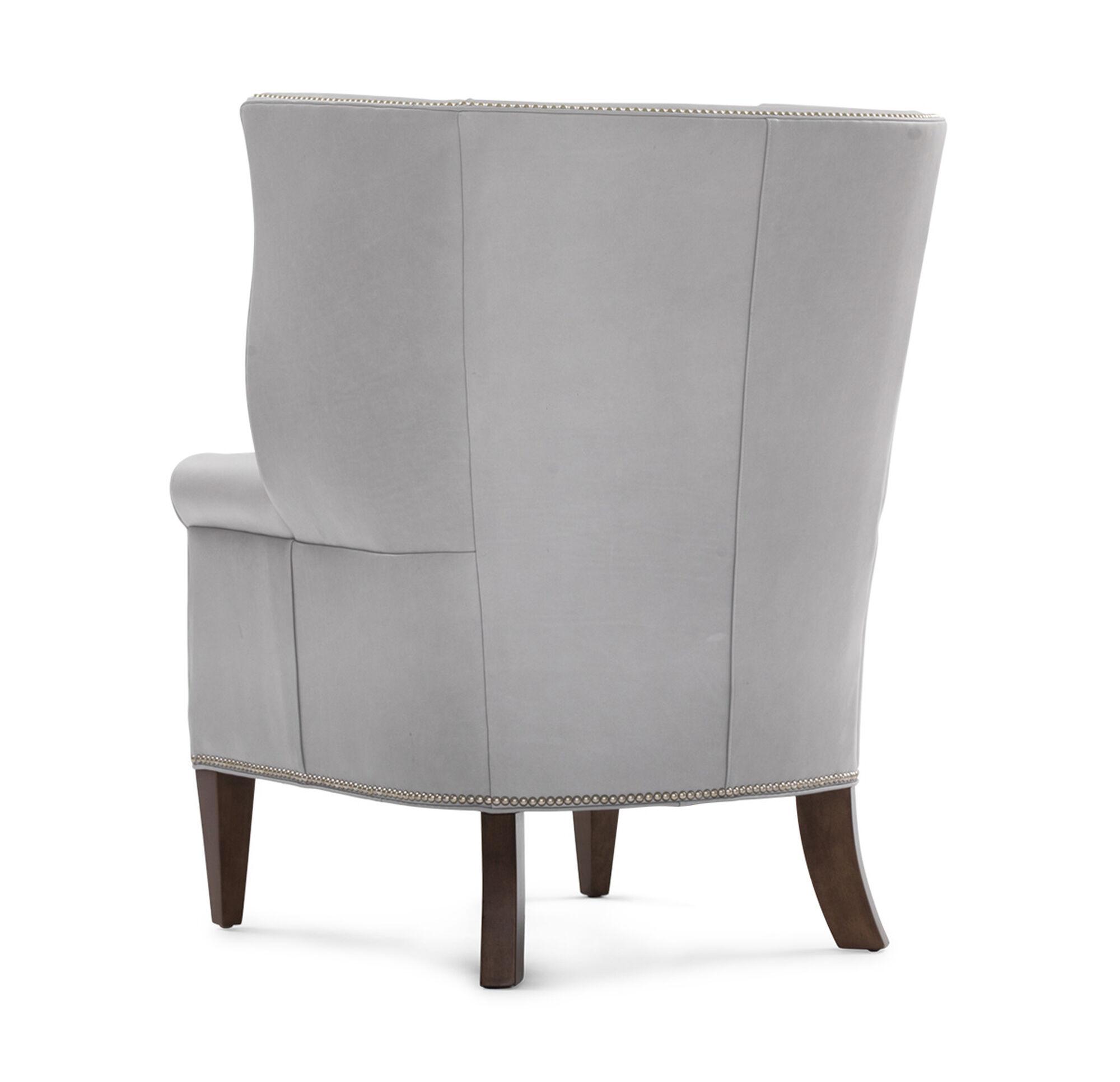 White leather wing chair - White Leather Wing Chair 6