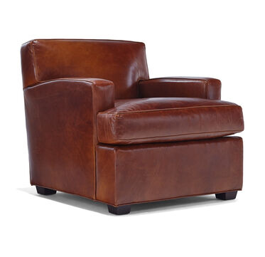 LUKA LEATHER CHAIR, PENLAND - TOBACCO, hi-res