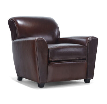 LOUIE LEATHER CHAIR, PENLAND - TOBACCO, hi-res