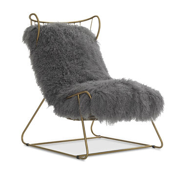 ENZO CHAIR - SILVER WITH BRASS, , hi-res