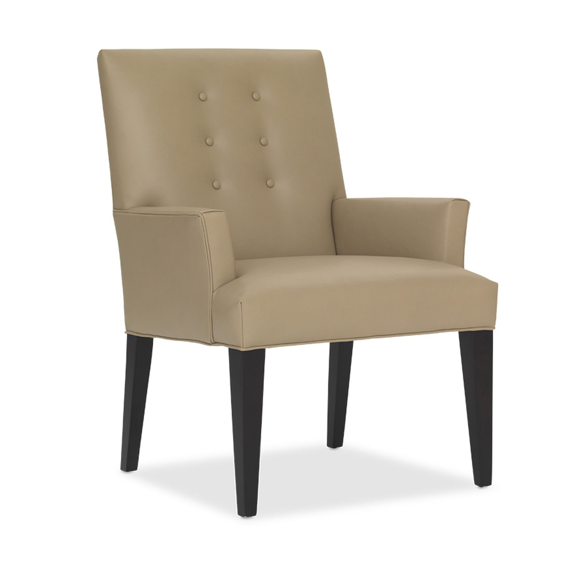 OLIVER LEATHER ARM DINING CHAIR