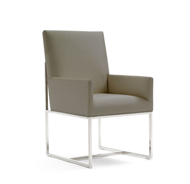 GAGE LOW ARM DINING CHAIR, ALLOY - GUNMETAL, hi-res