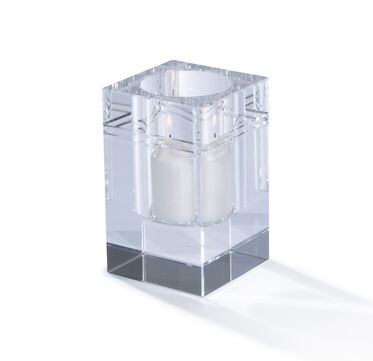 SQUARE CRYSTAL CANDLE HOLDER, , hi-res
