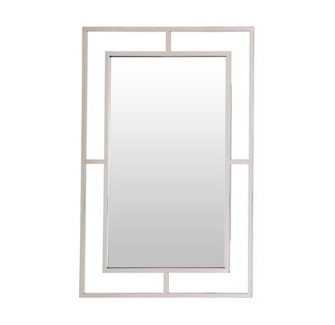 MING LARGE MIRROR - POLISHED STAINLESS STEEL, , hi-res