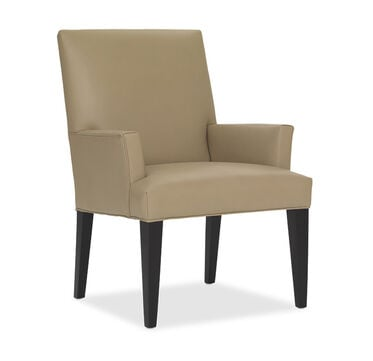 ANTHONY LEATHER ARM DINING CHAIR, , hi-res