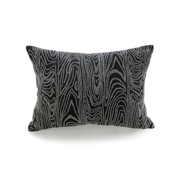 PEWTER BEADED FAUX BOIS THROW PILLOW, , hi-res