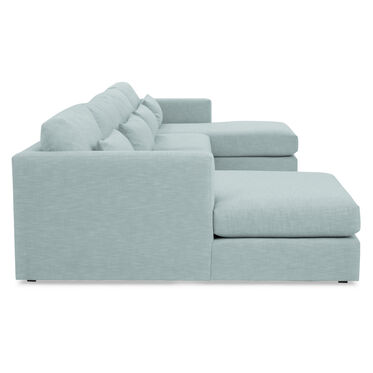 HAYWOOD U-CHAISE SECTIONAL, SOL - SKY BLUE, hi-res