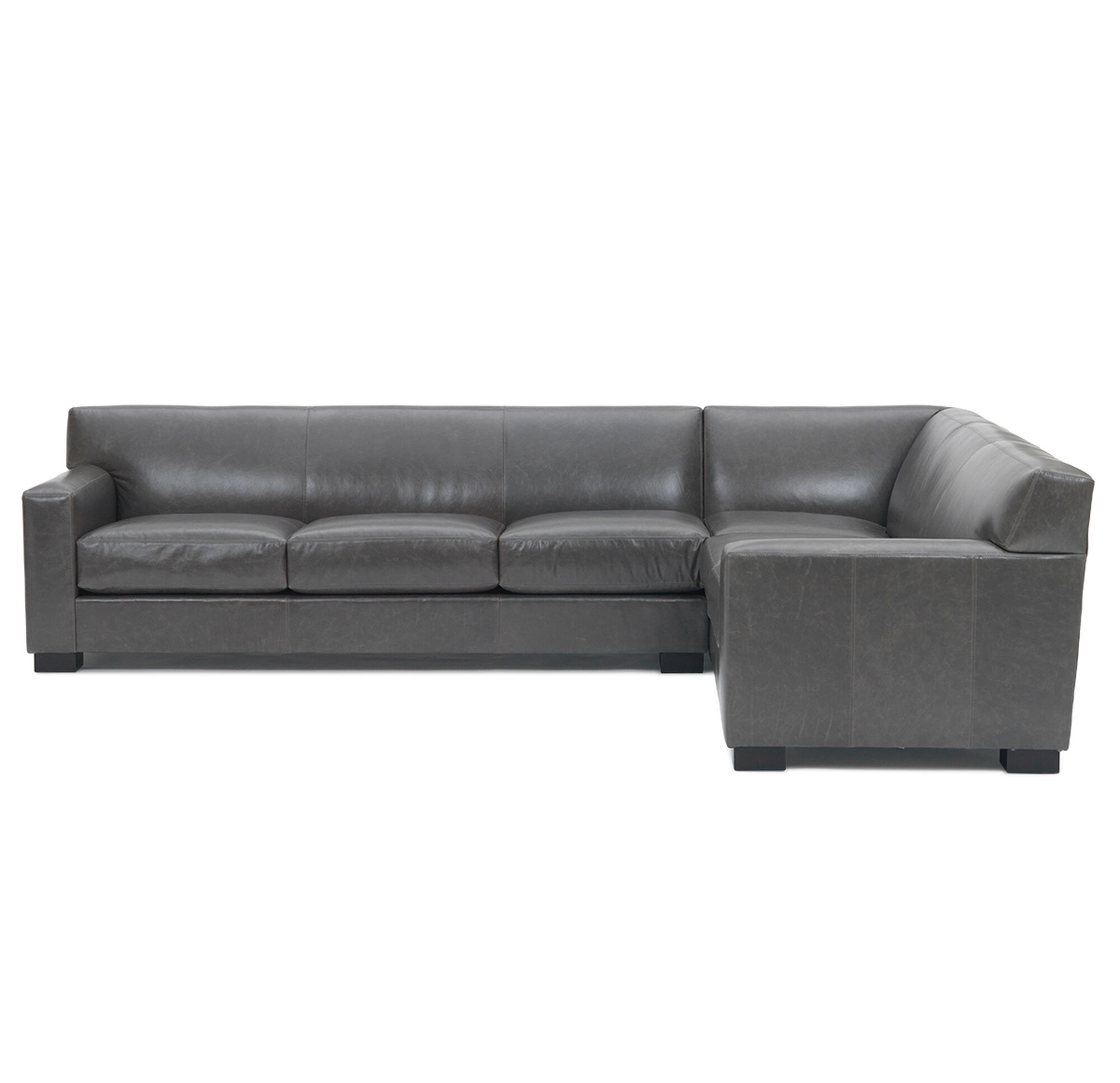 trendz faux bindy pin grey brown saddle leather sofa sectional