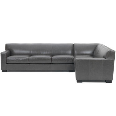 JEAN LUC LEFT LEATHER SECTIONAL, TUSCANY - GREY SLATE, hi-res