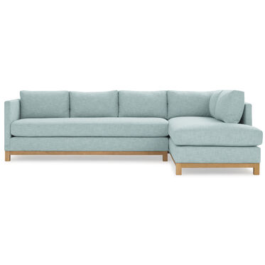 CLIFTON LEFT SECTIONAL, SOL - SKY BLUE, hi-res