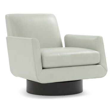 SUPERNOVA LEATHER RETURN SWIVEL CHAIR, MONT BLANC - MIST, hi-res